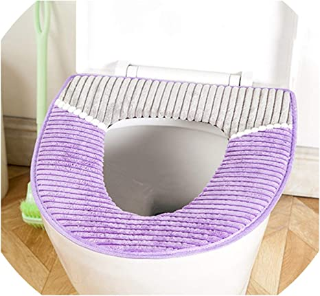 Bathroom Toilet Soft Warmer Seat Close Stool Washable Lid Top Cover Pad Mat Case