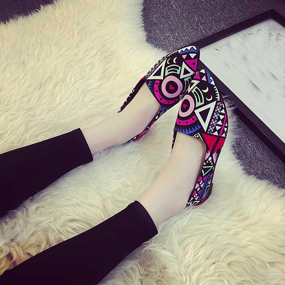Women Loafers ? Vanvler Lady Slip On Flat Shoes Ballet Doug Shoes All Seasons by Vanvler ❤ Women Shoes (Image #10)