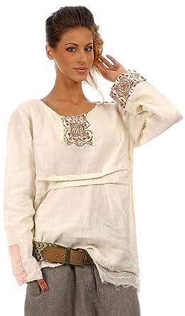 EWA I WALLA Tunique en Lin Femme  Amazon.fr  Vêtements et accessoires c1f0126ff34