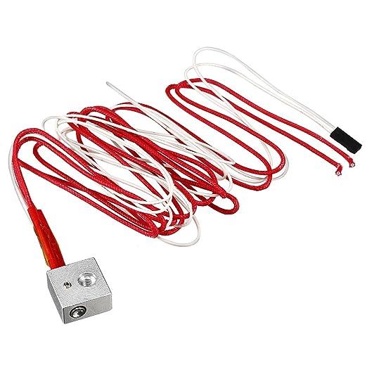 sourcing map Boquilla Tubos de Cable 12V 40W la Impresora 3D ...
