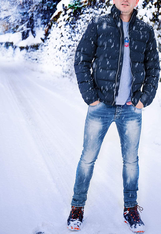Giubbotto Uomo Invernale Imbottito Giacca Impermeabile Elegante