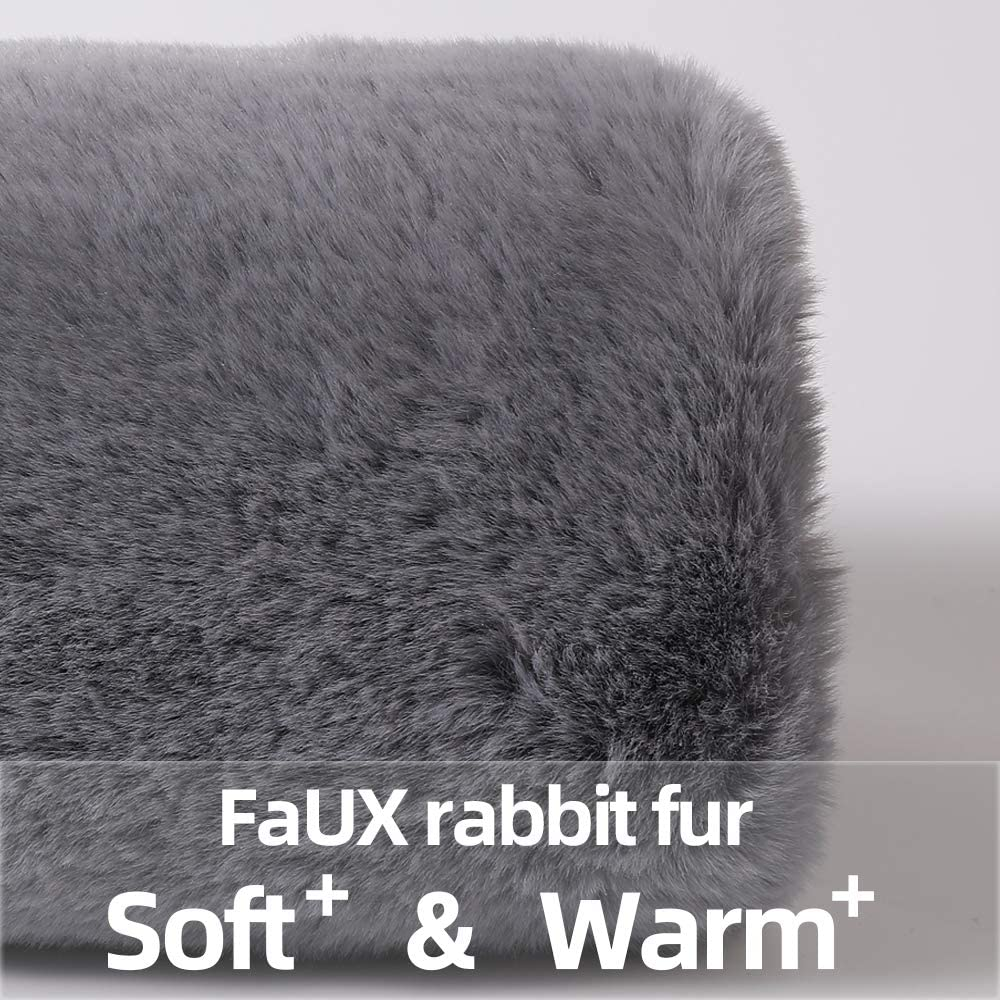 VS-Foru Hand Muffs for Women-Faux Fur Hand Warmer