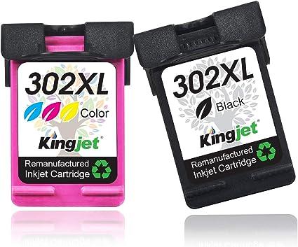 Kingjet 302XL - Cartuchos de tinta remanufacturados para HP 302 XL ...