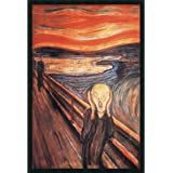 """Framed Art Print, 'The Scream, 1893' by Edvard Munch: Outer Size 25 x 37"""""""