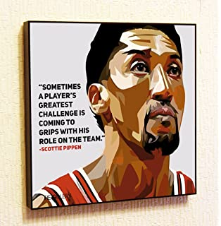 425938cdc4c Scottie Pippen NBA Backetball Motivational Quotes Wall Decals Pop Art Gifts  Portrait Framed Famous Paintings on