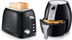 Ultrean 2 Slice Toasters and 4.2 Qt Air Fryer