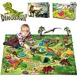 EIAIA Dinosaur Toys w/ Activity Play Mat Trees Rocks to Create A Dino World, Educational Realistic Dinosaur Figures…