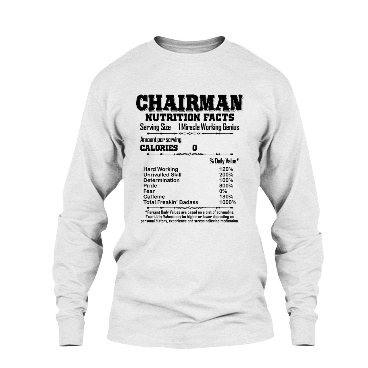 3548c2e57 Amazon.com: Five Lemon Chairman Nutrition Facts T Shirt, Long Sleeve Shirt  for You: Clothing