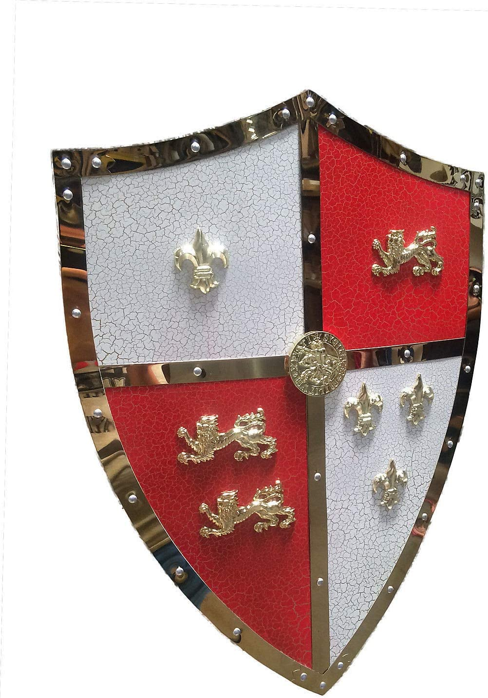 Swordmaster 24 Medieval Royal Crusader Lion Shield Armor with Handle Brand New