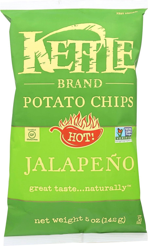 Kettle Brand Potato Chips Hot Jalapeno 5 oz.