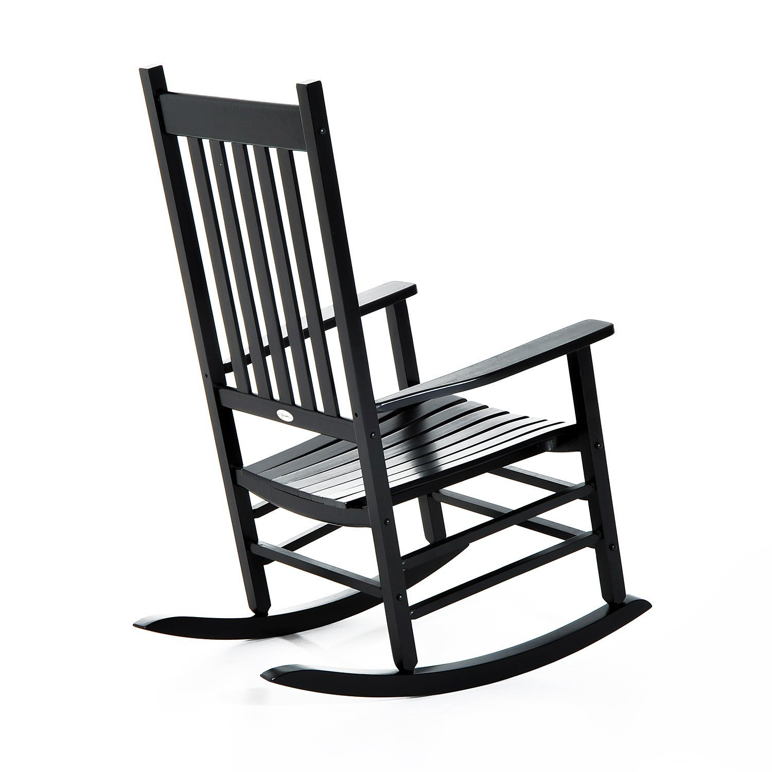 Outsunny Porch Rocking Chair - Outdoor Patio Wooden Rocker - Black by Outsunny (Image #3)