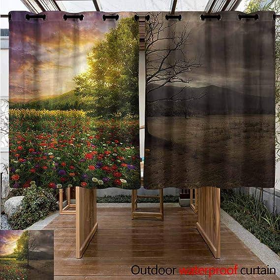 Sunnyhome Cortina para Puerta corredera de Madera de limón Natural romántica Simple y Elegante: Amazon.es: Jardín