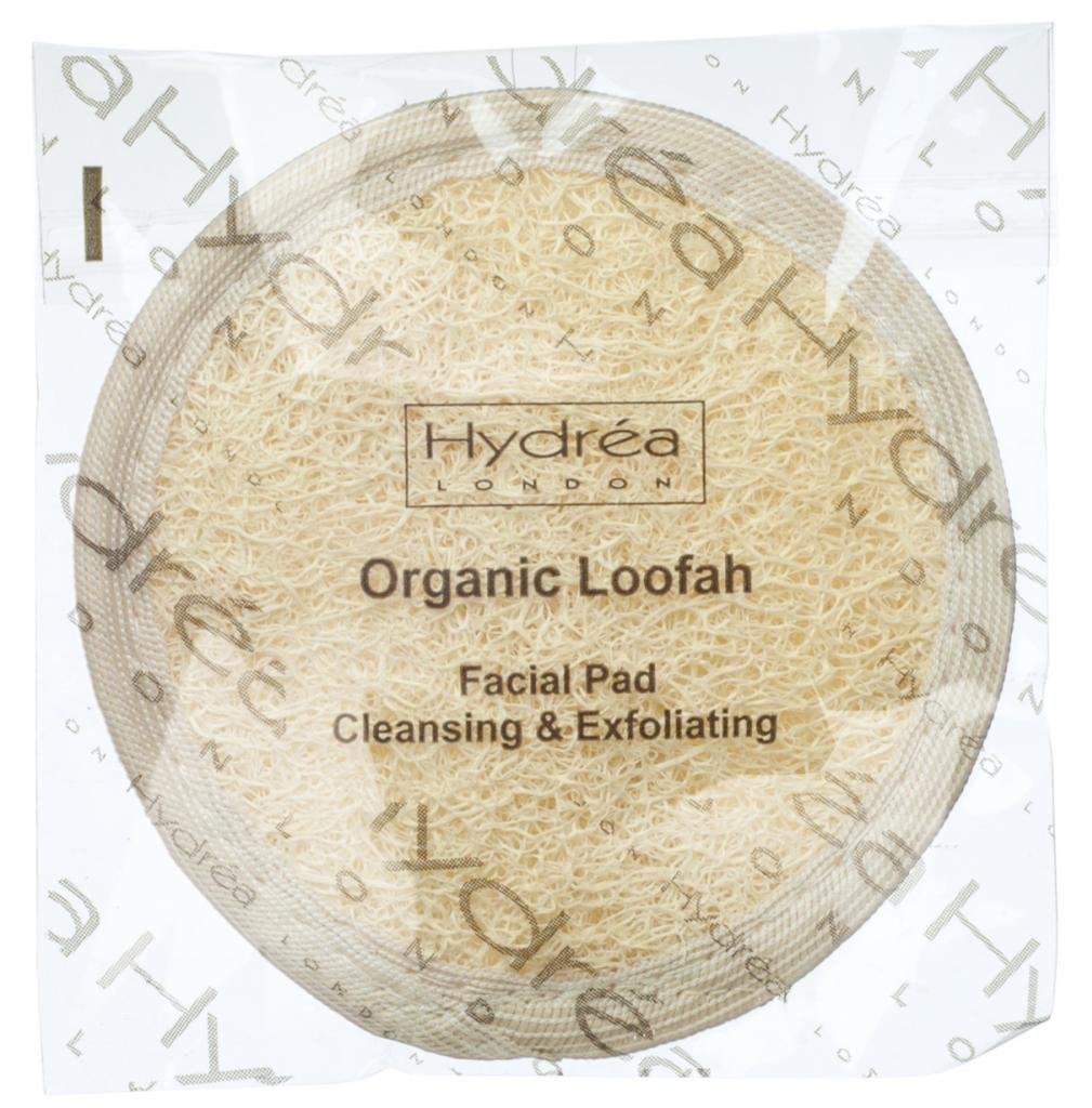 Cleansing & Exfoliating Loofah Facial Pad - Double Sided with Organic Egyptian Cotton Hydrea London
