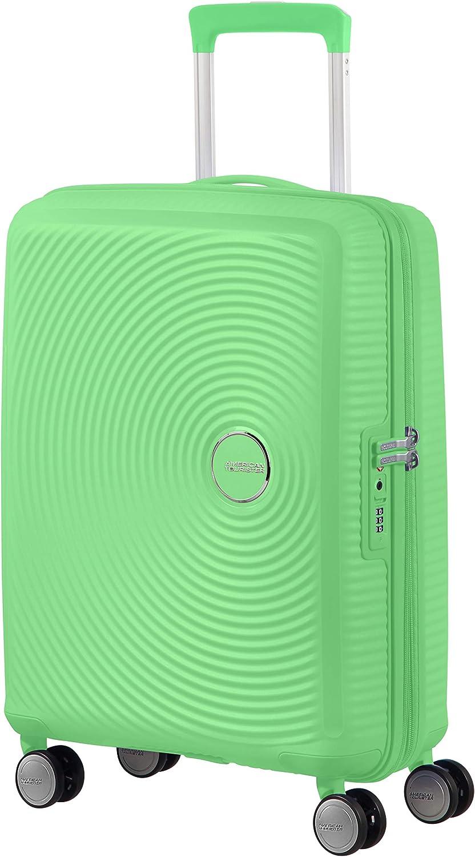 American Tourister Soundbox - Spinner S Expandible Equipaje de Mano, 55 cm, 35.5/41 L, Verde (Spring Green)