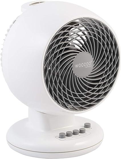 Iris Ohyama, ventilador silencioso, oscilante y potente - Woozoo - PCF-M18, blanco, 32 W, 23 m²: Amazon.es: Hogar