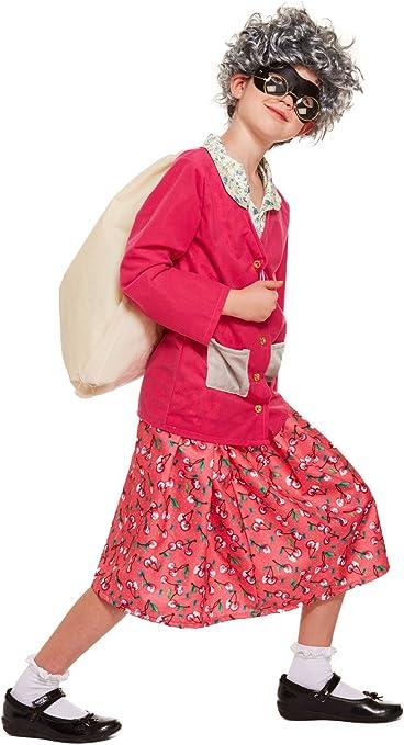 Disfraz de abuela gángster para niña, color rosa: Amazon.es ...
