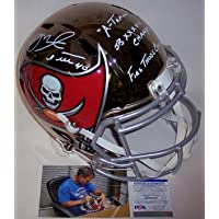$599 » Mike Alstott Autographed Hand Signed Tampa Bay Bucs Buccaneers Chrome Speed Full Size Football Helmet - with 3 Inscriptions - PSA/DNA