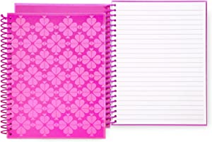 """Kate Spade New York Mini Spiral Notebook, 8.25"""" x 6.75"""" with 112 Lined Pages, Neon Pink"""