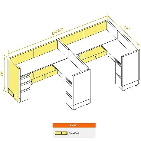 Amazon.com: O2 Now Mobiliario de oficina modular - Muebles ...