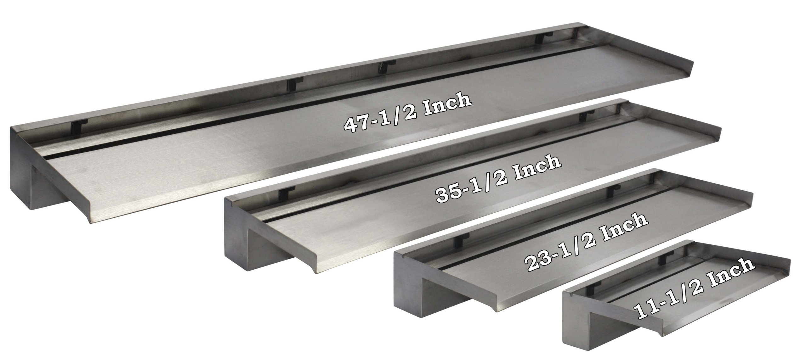 EasyPro Pond Products Vianti Falls 35.5'' Stainless Waterfall Kit with 6'' Extended Lip
