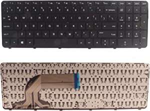 Dosens Keyboard Compatible with HP Pavilio 15-d 15-f 15-g 15-r 15-e 15-f387wm 15-d035dx 15-f233wm 15-f272wm 15-f010wm 15-n290nr 15-e 15-f222wm 15-f271wm 250 G3 255 G3 250 G2 255 G2