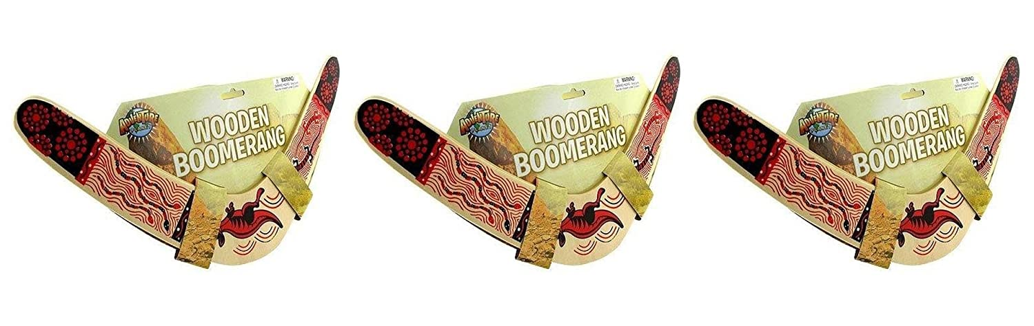 Rhode Vary Island Novelty Rhode。木製Boomerang Colors May Vary B07DHTVPBK 3パック B07DHTVPBK, 初山別村:a7a5e045 --- lembahbougenville.com