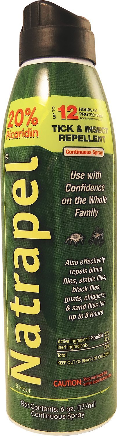 Natrapel 12-Hour Mosquito, Tick and Insect Repellent, 6 Ounce Continuous Spray