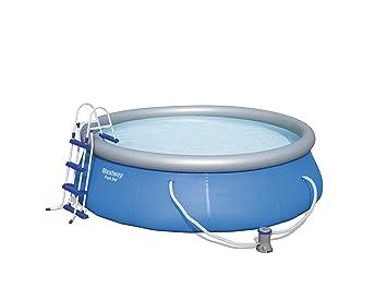 Bestway 8320025 Piscina Fast Set Redonda con Depuradora ø 366x91cm, Azul, 366x91 cm