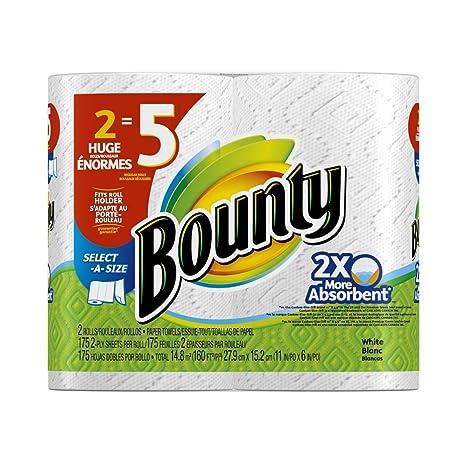 Bounty toallas de papel, color blanco (24 gran seleccione un tamaño rollos)