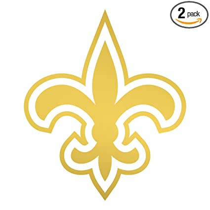 Amazon Com Angdest New Orleans Saints Logo Metallic Gold