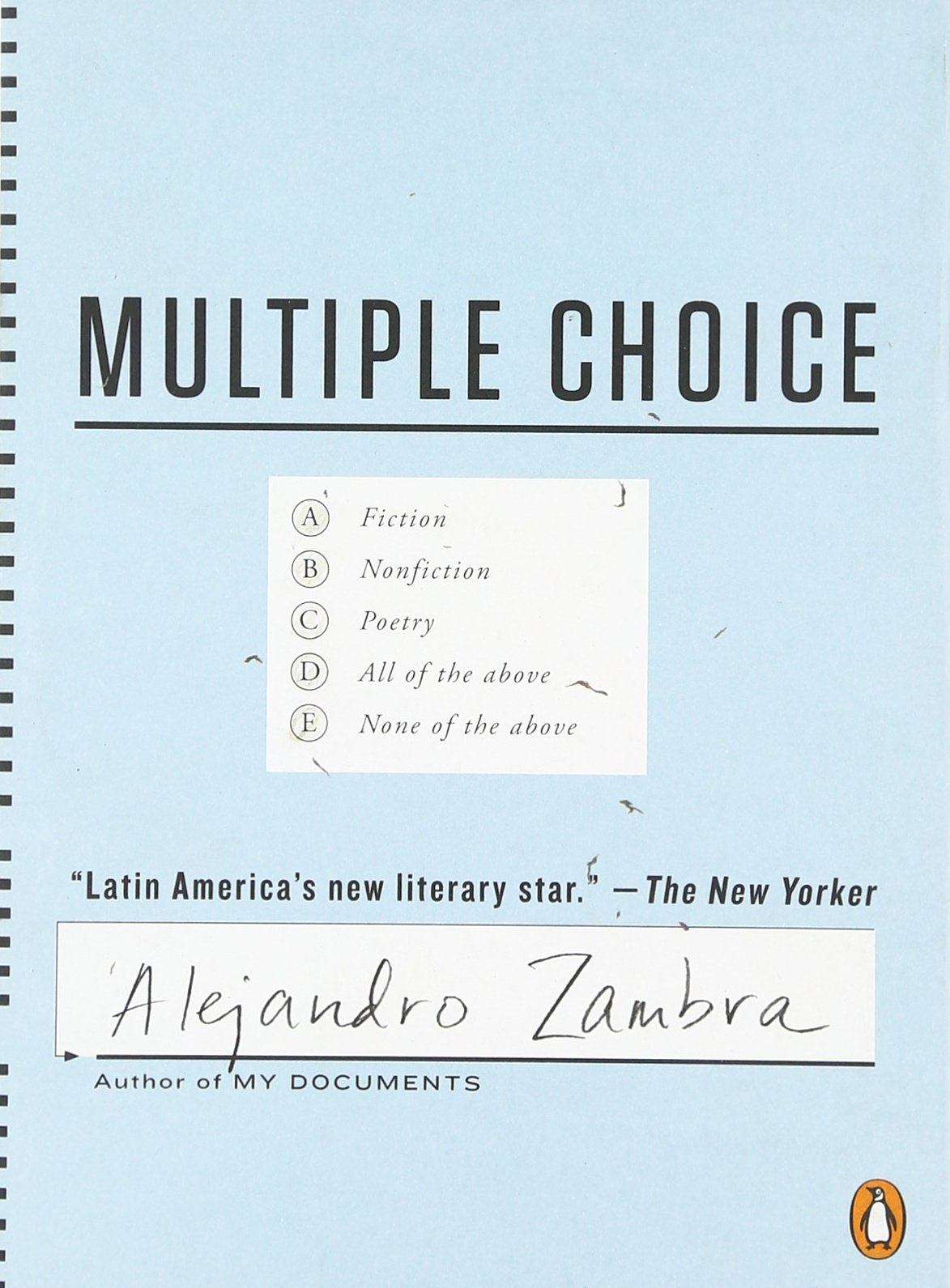 Multiple Choice Alejandro Zambra