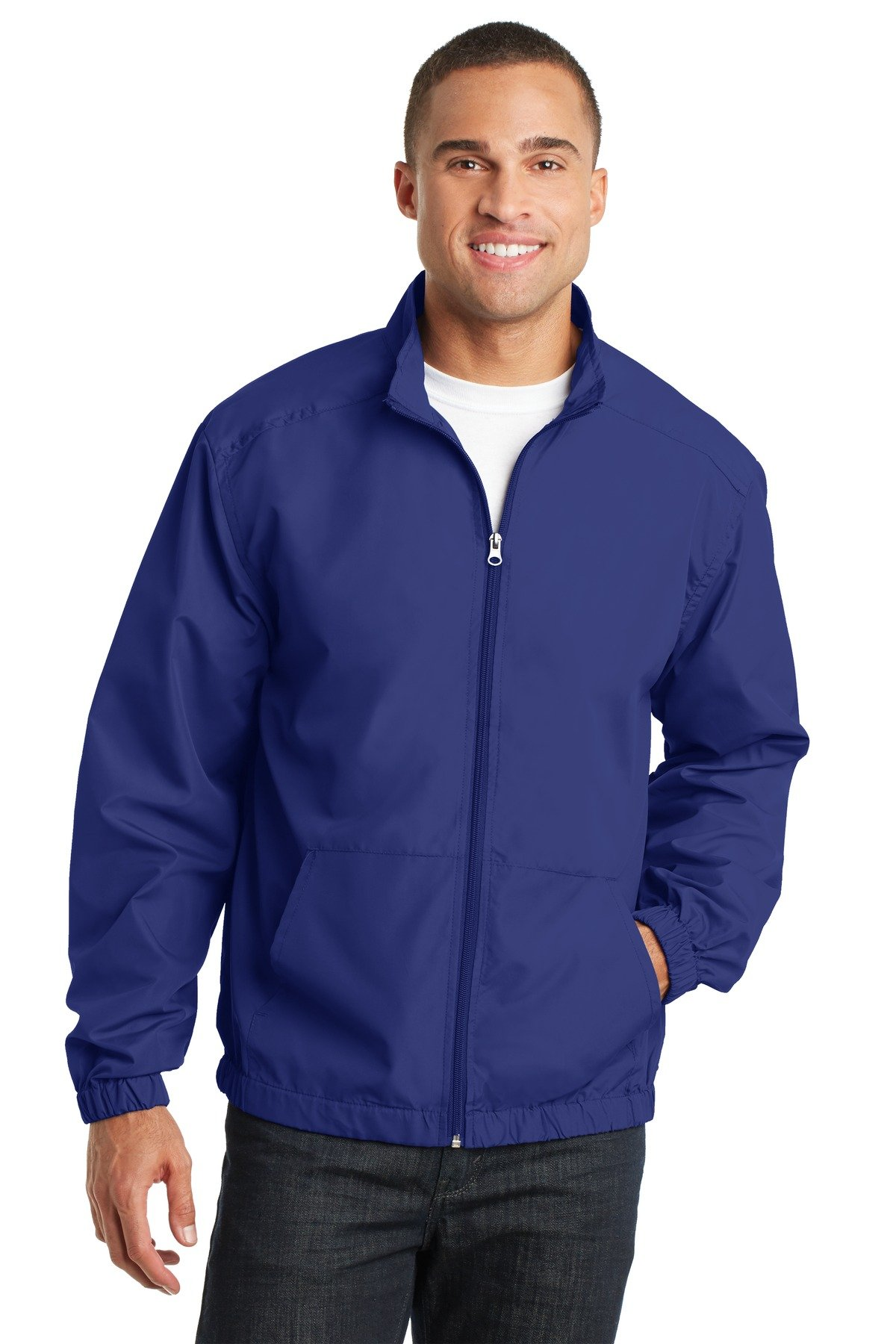 Port Authority Men's Essential Jacket L Mediterranean Blue by Port Authority