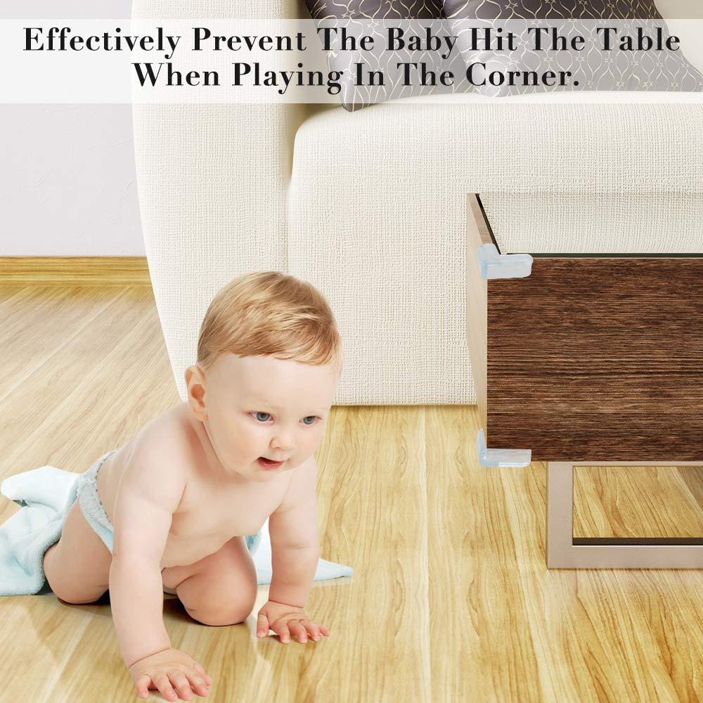 24 pcs Corner Protectors for Kids Clear Furniture Table Worktop Corner Protectors for Kids Baby Safety Corner Protectors Guards Safety Corners for Table Against Sharp Corners