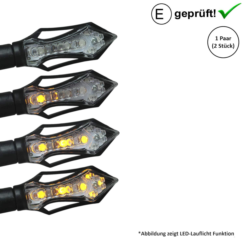 LED Blinker kompatibel mit ATU//Explorer Race GT 50 GT50 B17 Spin Race 2 E-Gepr/üft // 2St/ück