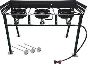 King Kooker CS42 Portable Propane 54,000-BTU Triple-Burner Outdoor Camp Stove