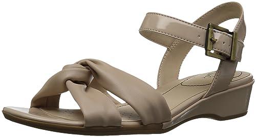 chaussures de sport 15424 8f7f5 LifeStride Femmes Sandales Compensées Couleur Marron Taupe ...