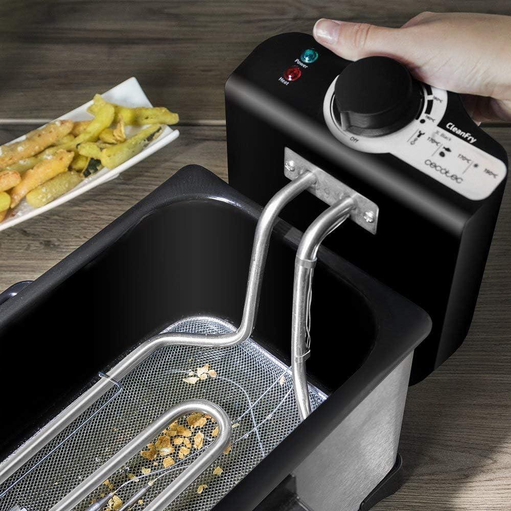 Cecotec Freidora CleanFry 3L, Capacidad de 3 l, Temperatura hasta ...