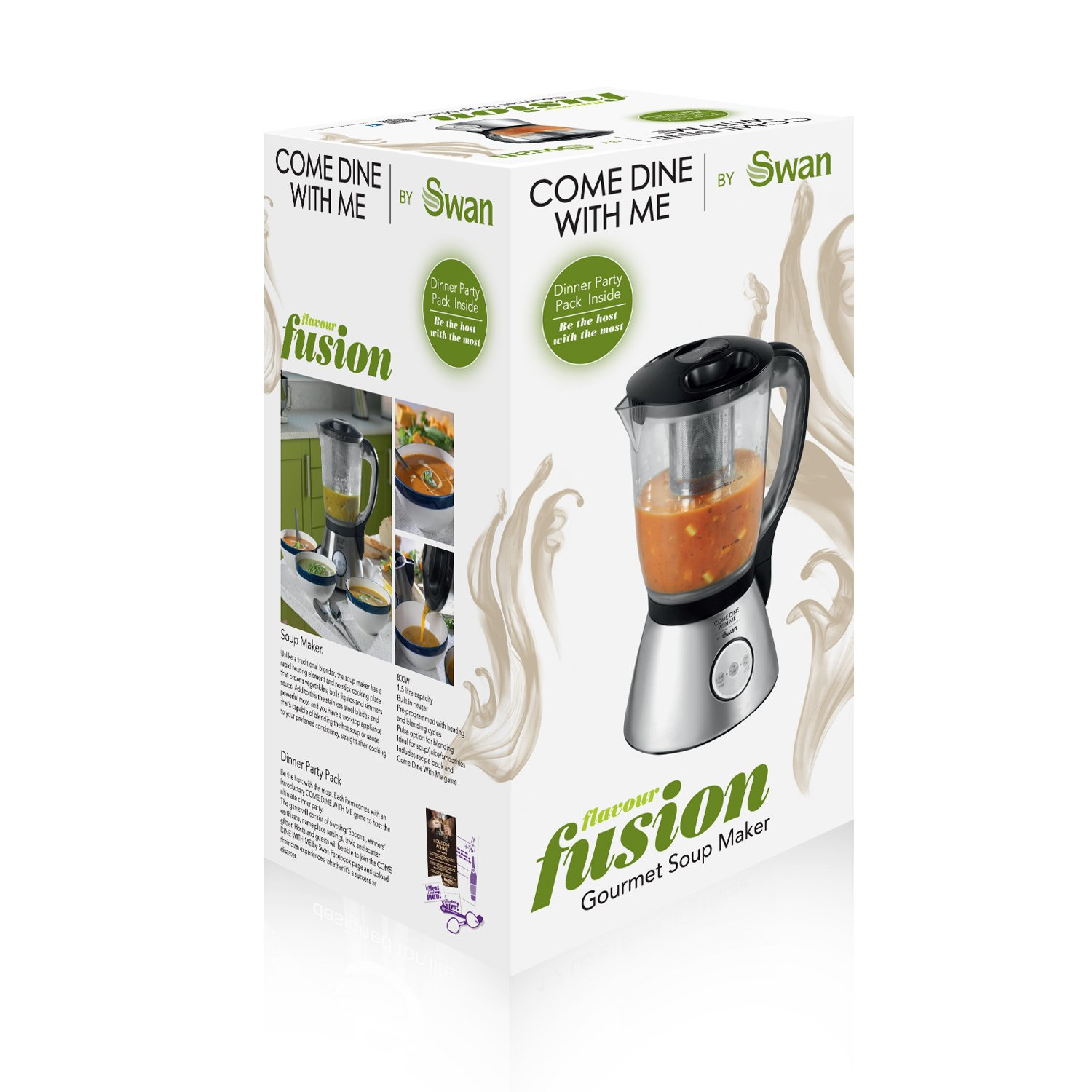 Amazon.com : Swan Come Dine with Me Gourmet Soup Maker : Grocery ...
