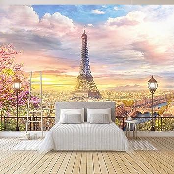 Papel Pintado Fotomural Paris romantico Fondo de Pantalla 3D ...