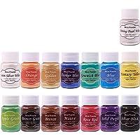 Pigment Powder, 15 Color Epoxy Resin Color Pigment, Mica Powder Epoxy Resin Dye for Soap Making Supplies, Nail Art, Lip…