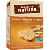 Back To Nature Non GMO, Peanut Butter Creme Cookies, 9.6 ounce