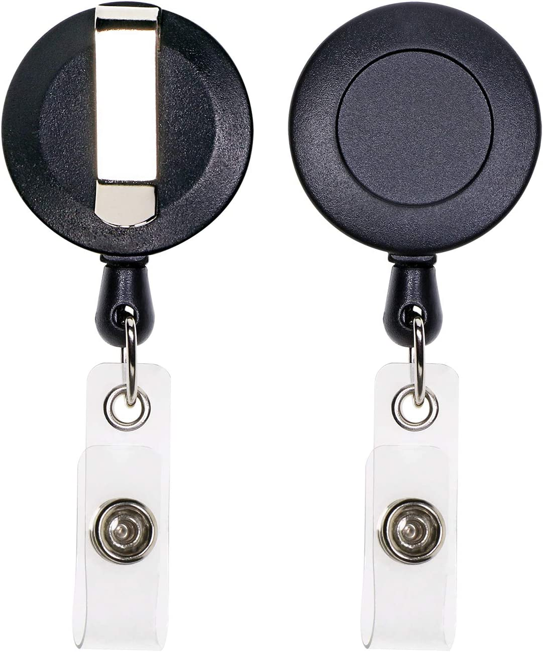 Tupalizy 5PCS Retractable ID Badge Holder for Nurse Student Badge Reel Clips for Keys Pockets Customizing Art Craft Gifts Work Coworkers Business Hospital Nursing School Office Use Black