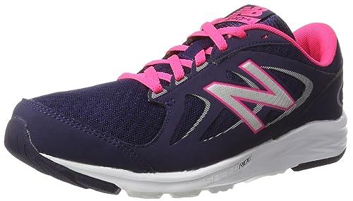 New Balance Womens W490V4 Running Shoe, Dark Denim/Alpha Pink/Silver, 7