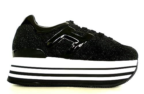Hogan scarpe donna hogan H283 MAXI 222 allac. H grande HXW2830T548667B999 nero