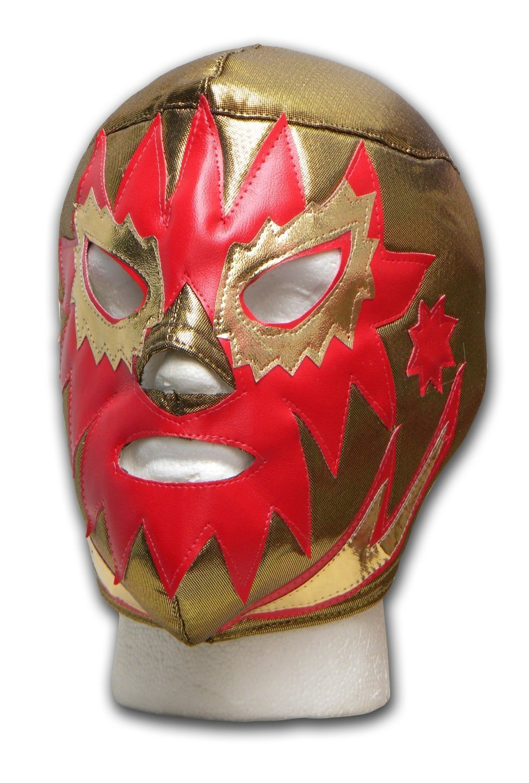 WRESTLING MASKS UK Men's Solar Oro - - Tie Up Wrestling Mask One Size Multicoloured