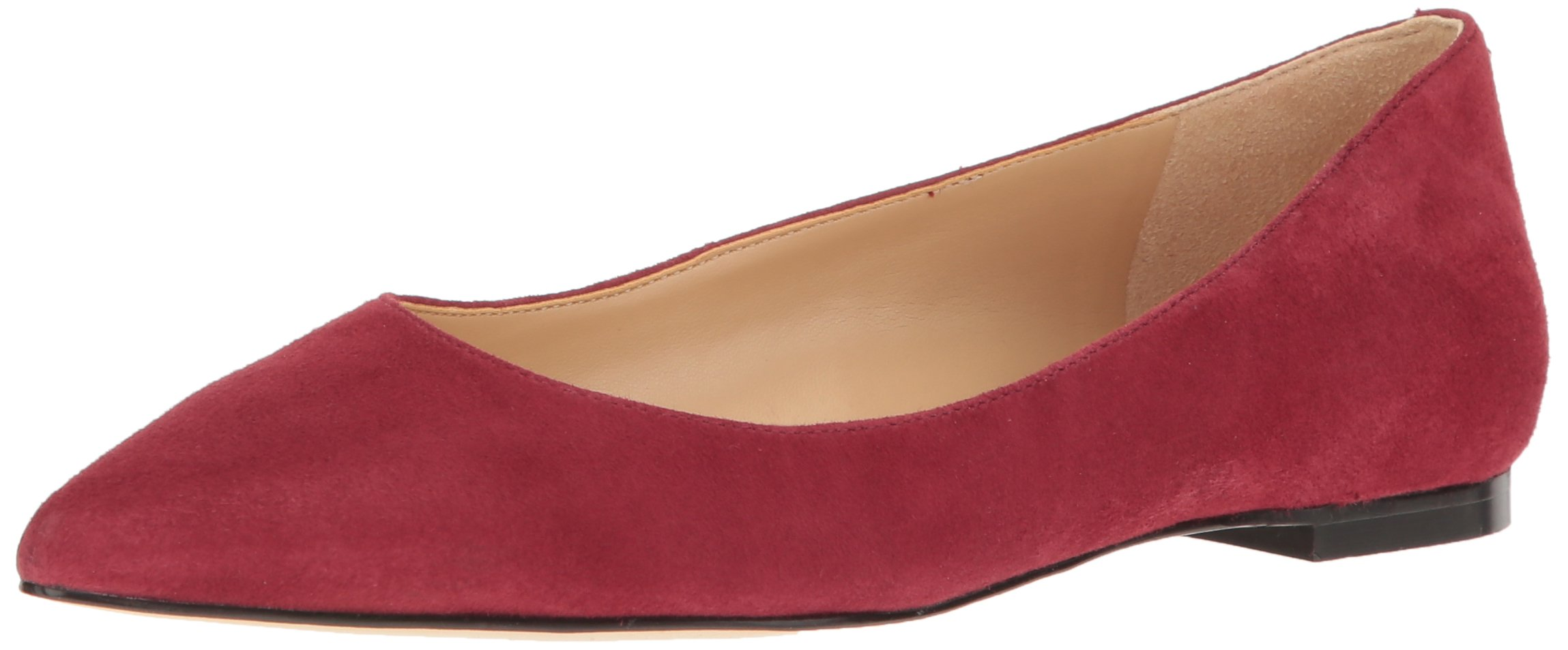 Sam Edelman Women's Rae Pointed Toe Flat, Tango Red Suede, 9.5 M US