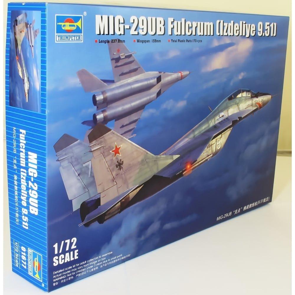 Mig29Ub Fulcrum (Izdeliye 9.51) 1 72 Aircraft Model Kit