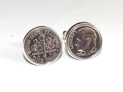 1995 21 cumpleaños/aniversario - mancuernas de moneda estadounidense de 1995 mancuernas de moneda estadounidense para a 21st: Amazon.es: Joyería
