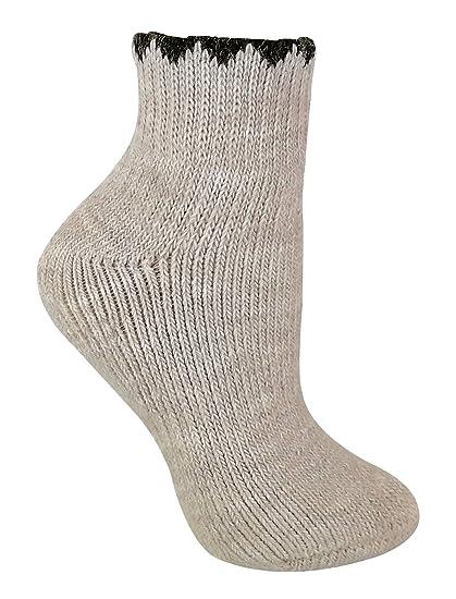 Mujer termicos alpaca lana calcetines para botas agua (37/42, 01 Stone)