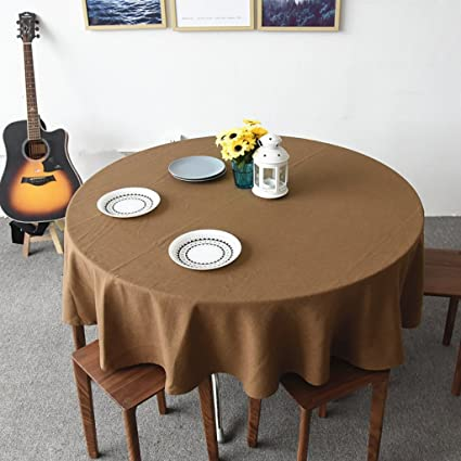 WENJUN Christmas Round (Circular) Tablecloth Ideal For 4 6 Place Settings  (120